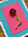 Tutorial | Quilled Flower Valentine Card