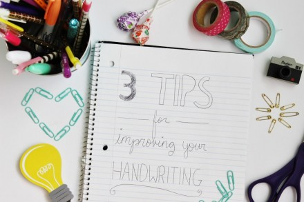 Tips & Tricks for Improving Your HAndwriting by Clover & Dot