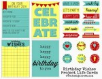 Freebie | Birthday Journaling Cards for Project Life