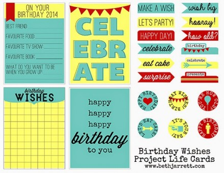 Birthday Wishes Project Life Cards - Scraps of Five