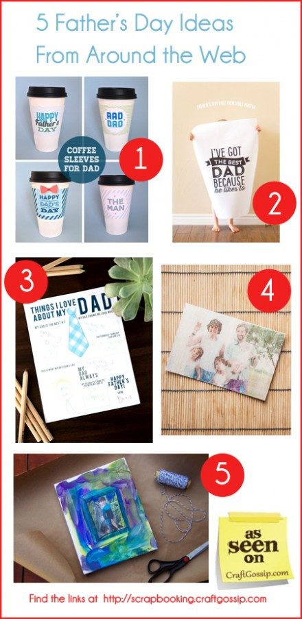 Five Father's Day ideas at Craft Gossip