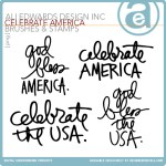Freebie | Celebrate America Word Art