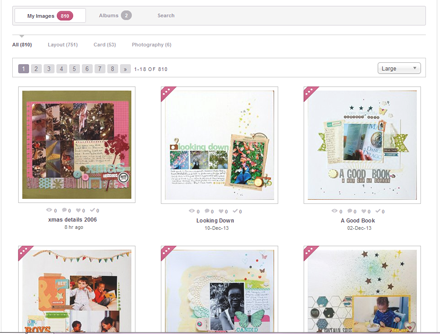 New gallery at Scrapbook