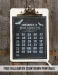 Freebie | Printable Halloween Countdown