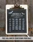 Freebie | Printable Halloween Countdown