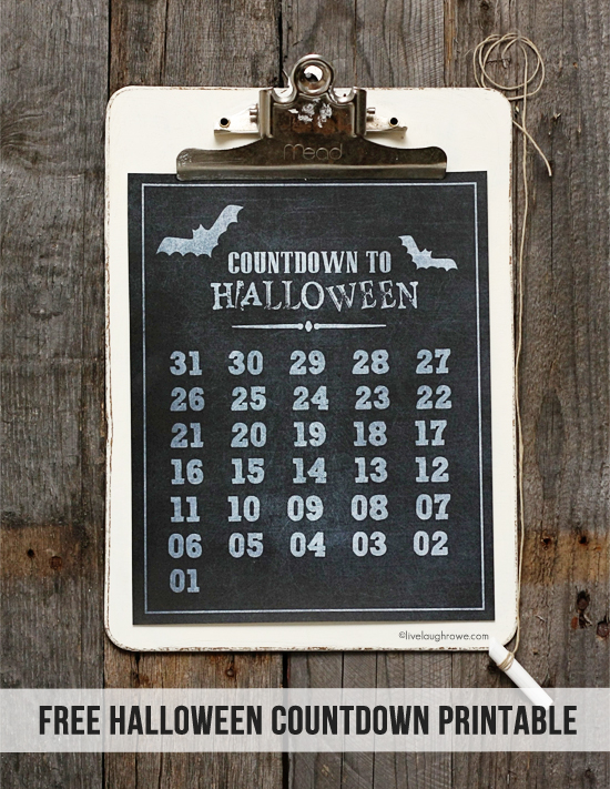 Countdown to Halloween Printable