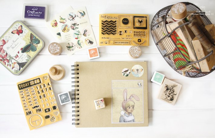Scrapbook Organization - How to Organize Rubber Stamps