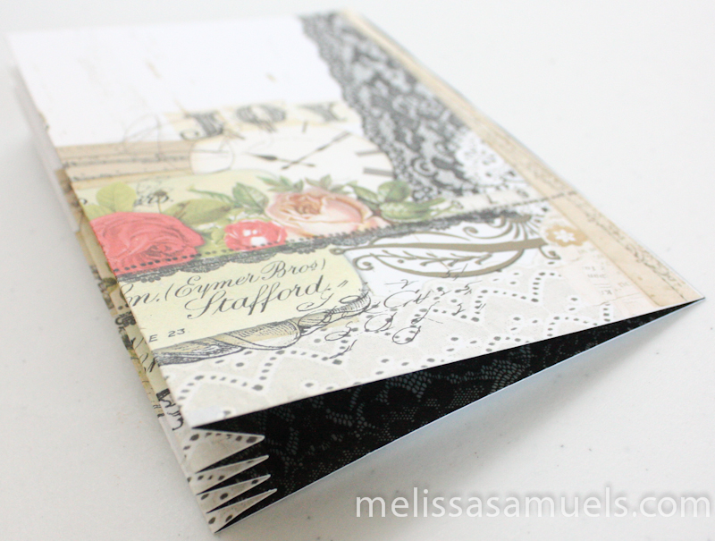 Tutorial - accordion fold mini book by Melissa Samuels - in progress
