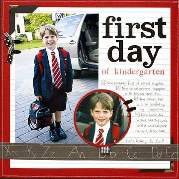 First Day of School Scrapbook Pages – Better Homes and Gardens