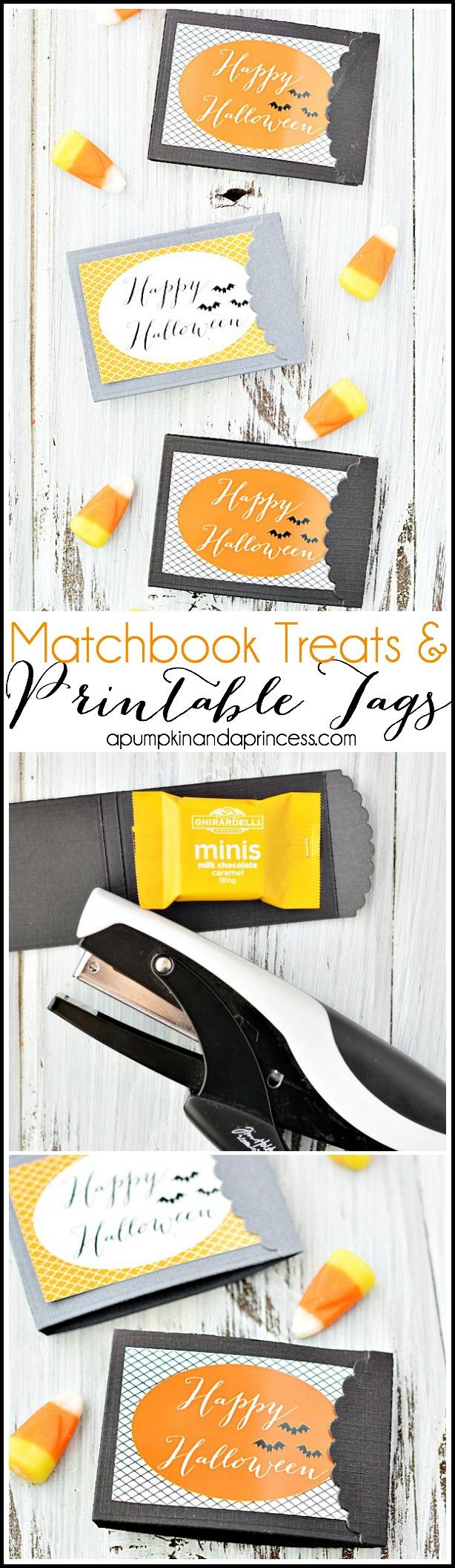 Matchbook-Treats-Printable-Halloween-Tags - A Pumpkin & a Princess