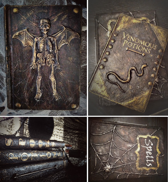 Tutorial - Altered Halloween Books by Better After