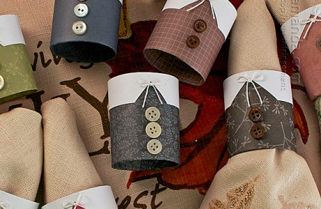 Tutorial - pilgrim-napkin-rings- for Thanksgiving at Crafts by Amanda