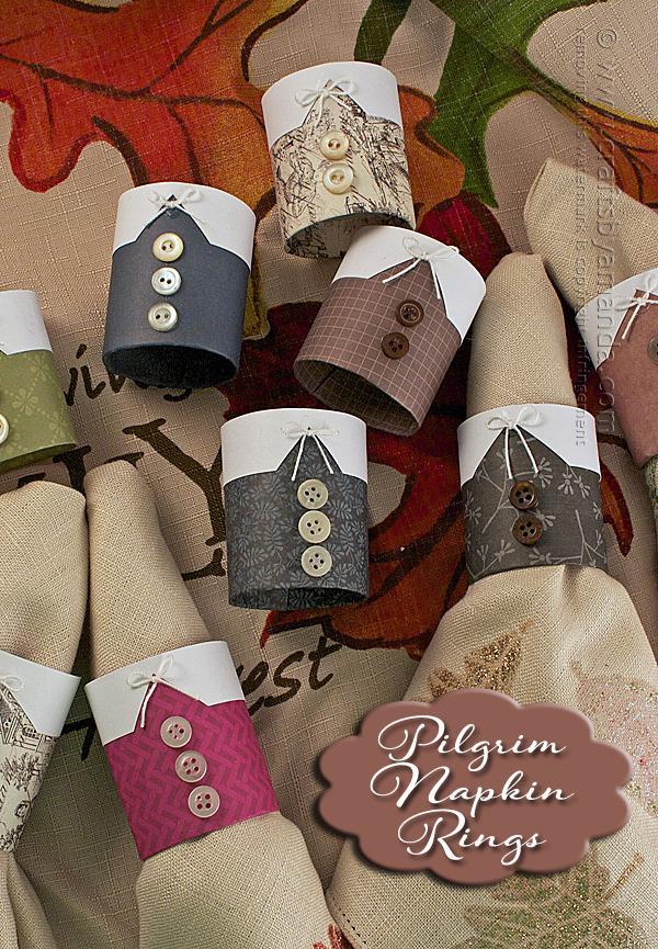 Tutorial - pilgrim-napkin-rings- for Thanksgiving at Crafts by Amanda