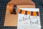 DIY | Halloween Party Invites with Washi Tape