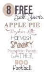 Freebie | 8 Fonts for Fall