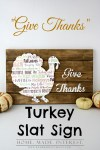"Tutorial | ""Give Thanks"" Turkey Slat Sign 