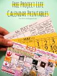 Freebie | Project Life Calendar Printables