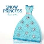 Tutorial   Glittery Snow Princess Card