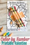 Color by Number Printable Valentine