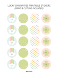 Freebie | Printable Lucky Charm Print & Cut Stickers
