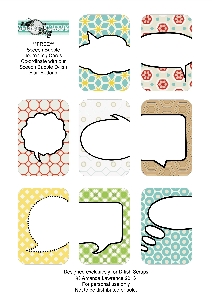 Freebie - Speech bubble cards from D-lish Scraps