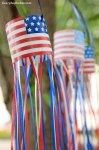 Freebie | Printable Patriotic Windsock Craft
