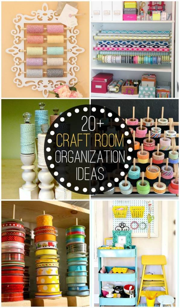 20 craft room organization ideas scrap booking for Diy organization crafts