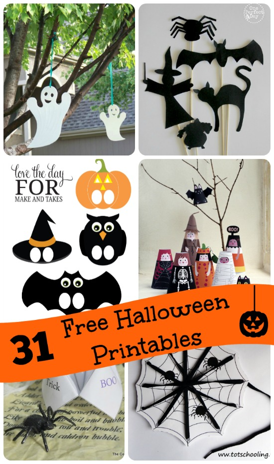 Lucrative image in halloween crafts for kids+free printable