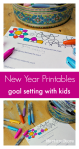 Free New Year Review & Goal Setting with Kids Printables