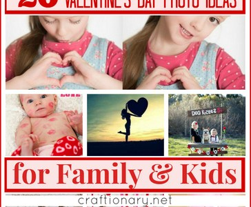 20 Valentine's Day Photo Ideas for Family & Kids