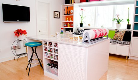 Stylish Craft Room with a Vintage Twist