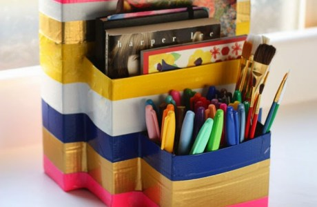 DIY Back to School Homework Caddy