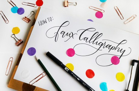 Tutorial | Faux Calligraphy
