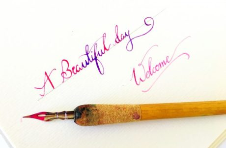 Watercolor Dip Pen Calligraphy Tutorial