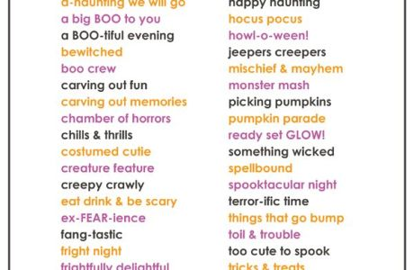 40 Halloween Scrapbook Page Title Ideas