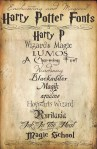 12 Enchanting & Magical Harry Potter Fonts