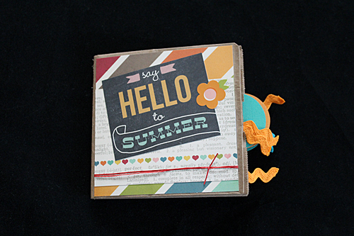 Hello Summer (Simple Stories) paper bag scrapbook  by Scrappy Bags