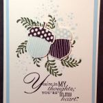 Acorny Thank You set from 2016 Holiday Catalog from Stampin' Up!
