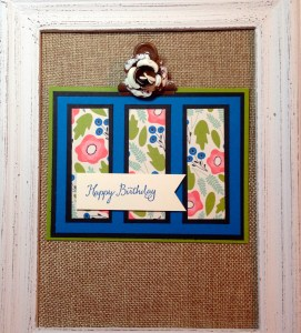 Happy Birthday card with Pretty Petals by Scrappy Bags