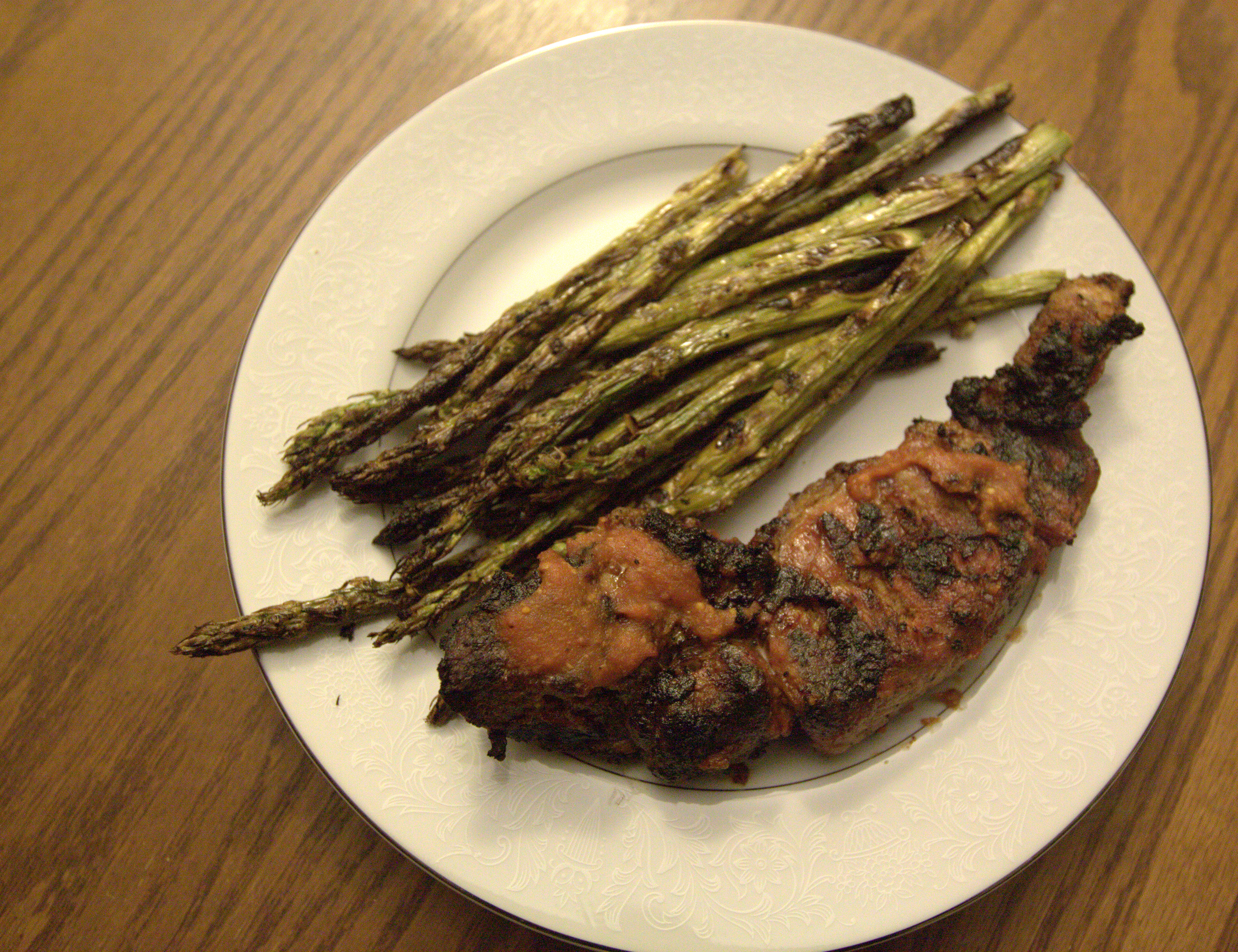 how to cook asparagus on bbq pit