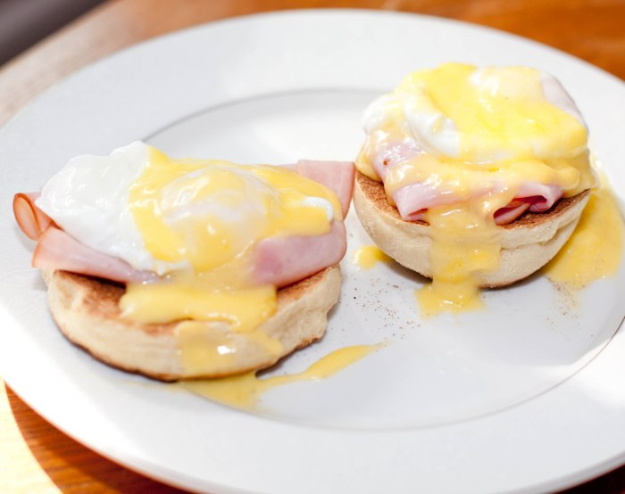 Never wait in a brunch line again!  Make your own Eggs Benedict from scratch!