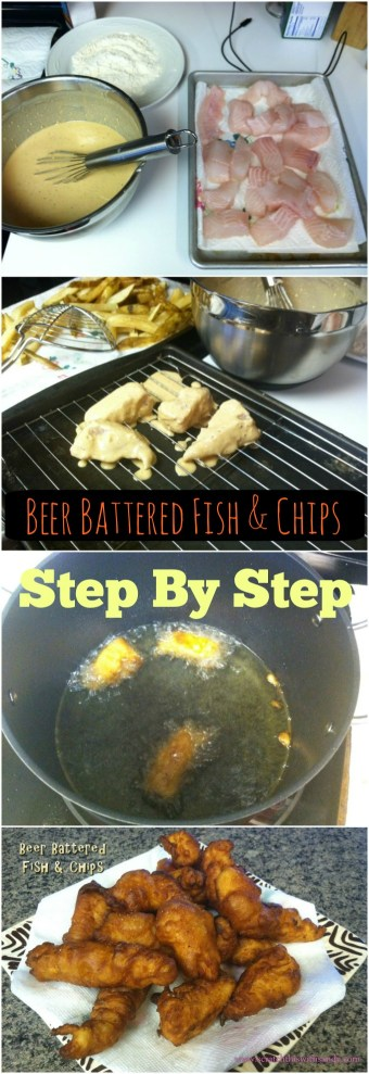 Beer battered fish and chips scratch this with sandy for Beer battered fish and chips