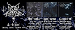 Dark Funeral - Re-issues
