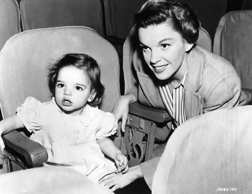Judy and baby Liza at the movies