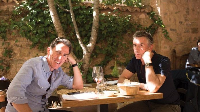Rob Brydon [Rob] and Steve Coogan [Steve] in Michael Winterbottom's THE TRIP TO SPAIN.  Photo courtesy of IFC Films. An IFC Films release.