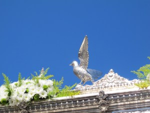 La Paloma Blanca, the White Dove - another name for the Virgen del Rocio.