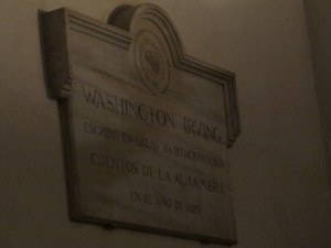 Washington Irving was an American writer and diplomat who lived in the Alhambra in the 1820s.