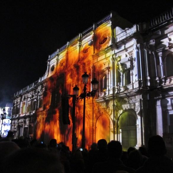 Sevilla, mapping, Christmas 2014