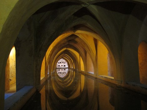 Alcazar, Seville, Sevilla, romantic, Valentine's Baths of Maria Padilla