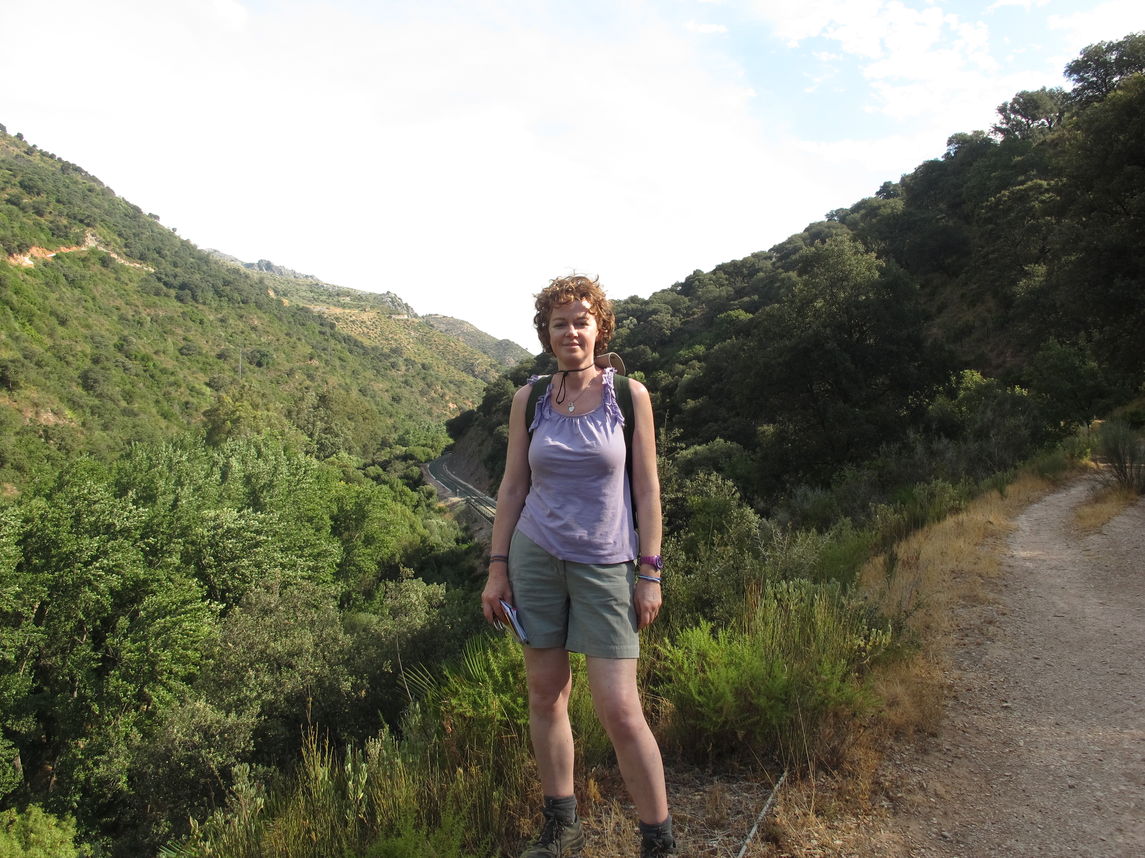 Deep in the wilds of Andalucia, pretending to be a hiker.